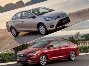 "Toyota Vios 1.5G vs Hyundai Accent 1.4AT: ""Tan binh"" dau ""Vua doanh so"""