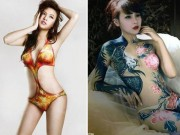Ban gai Cuong do La, Le Kieu Nhu san sang nude ve body painting