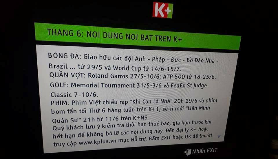 k+ noi gi ve thong tin se phat song world cup 2018? hinh anh 2
