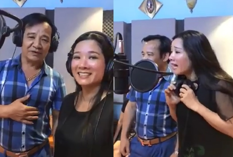 """quang teo khoe giong, song ca 'sau tim thiep hong"""" voi thanh thanh hien hinh anh 1"""