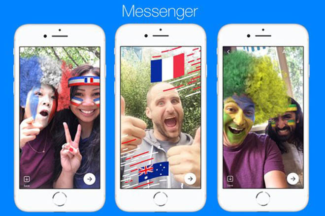 facebook messenger cap nhat them game cho mua world cup hinh anh 1