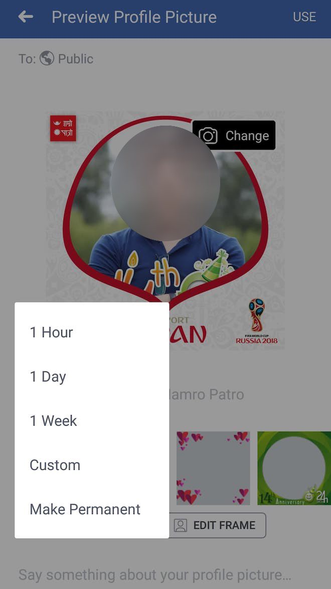 thu thuat facebook: cach thay anh dai dien don world cup 2018 hinh anh 4