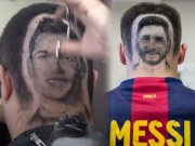 Video - anh - dep mua World Cup: Fan cat toc hinh mat CR7, Messi