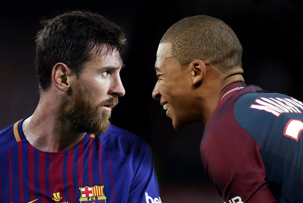 """con nuoc con tat, mbappe doa """"cuop"""" chiec giay vang cua messi hinh anh 1"""