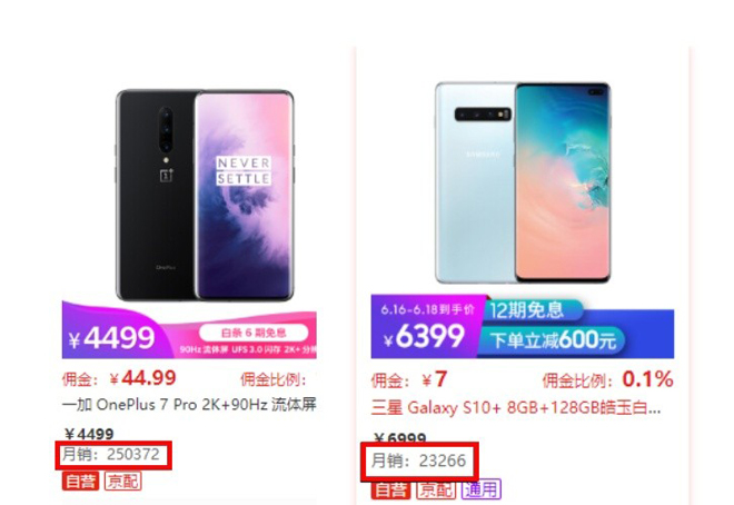 "doanh so oneplus 7 pro ""danh bai"" galaxy s10+ tai trung quoc hinh anh 1"