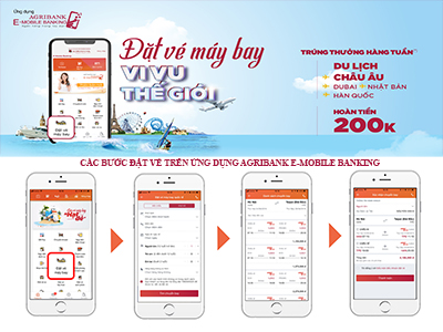 """""""dat ve may bay - vi vu the gioi"""" voi ung dung agribank e-mobile banking hinh anh 3"""