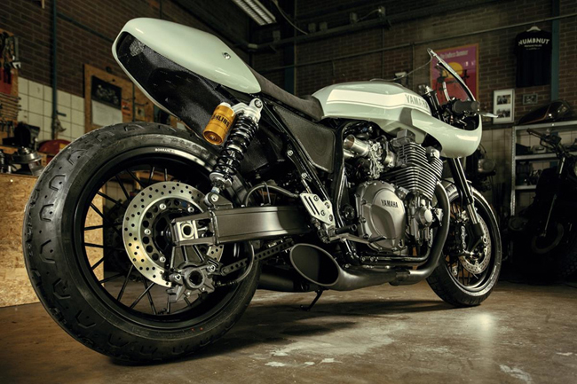 "yamaha xjr1300 do cafe racer ""hop hon"" canh may rau hinh anh 5"