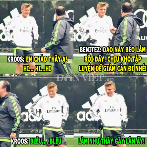 "anh che: kroos che gieu hlv real, m.u ""nhuom do troi au"" hinh anh 1"