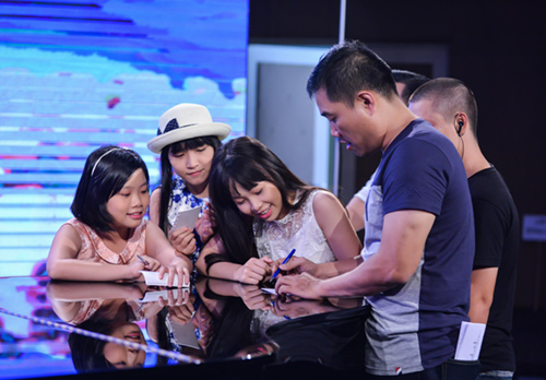 minh tuyet ve nuoc co van cho cam ly tai the voice kids hinh anh 3