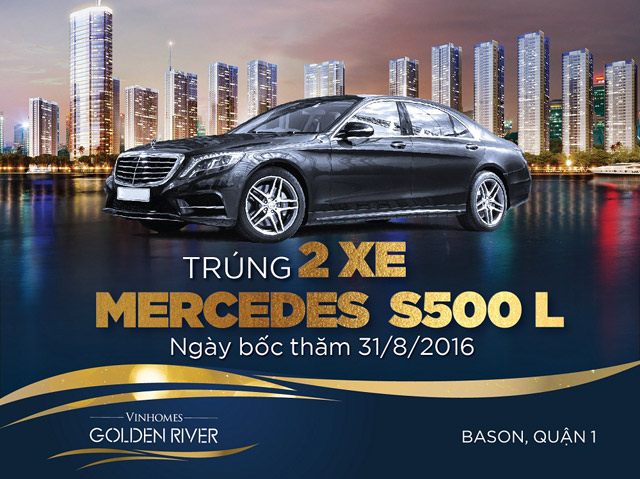 co hoi so huu bo doi dang cap – can ho vinhomes golden river & mercedes s500l hinh anh 1
