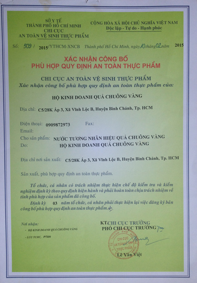 qua chuong vang – nuoc tuong, nuoc mam chat luong cao hinh anh 5