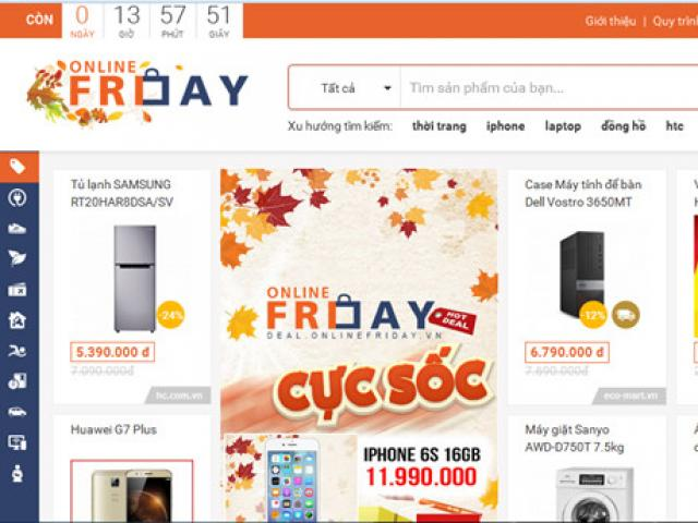 Ngay Online Friday 2016: 600 khach hang to cao khuyen mai ao