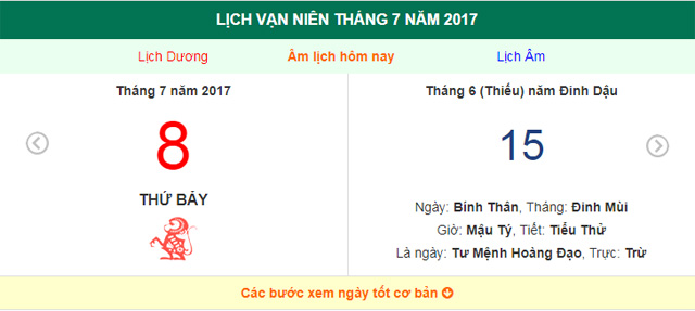 am lich hom nay (15.6, tuc 8.7 duong lich): nhieu viec nen lam trong ngay nay hinh anh 1