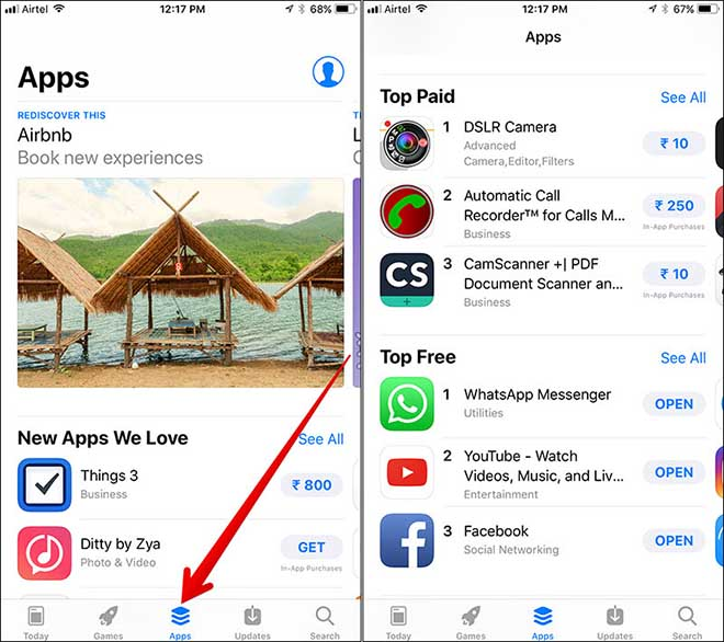 "ios 11: lam sao xem duoc ""top"" ung dung mien phi danh cho iphone hinh anh 1"