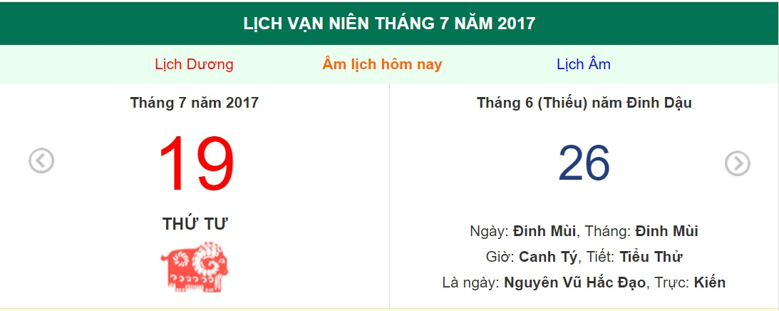 am lich hom nay (26.6, tuc 19.7 duong lich): co nen dong tho khong? hinh anh 1