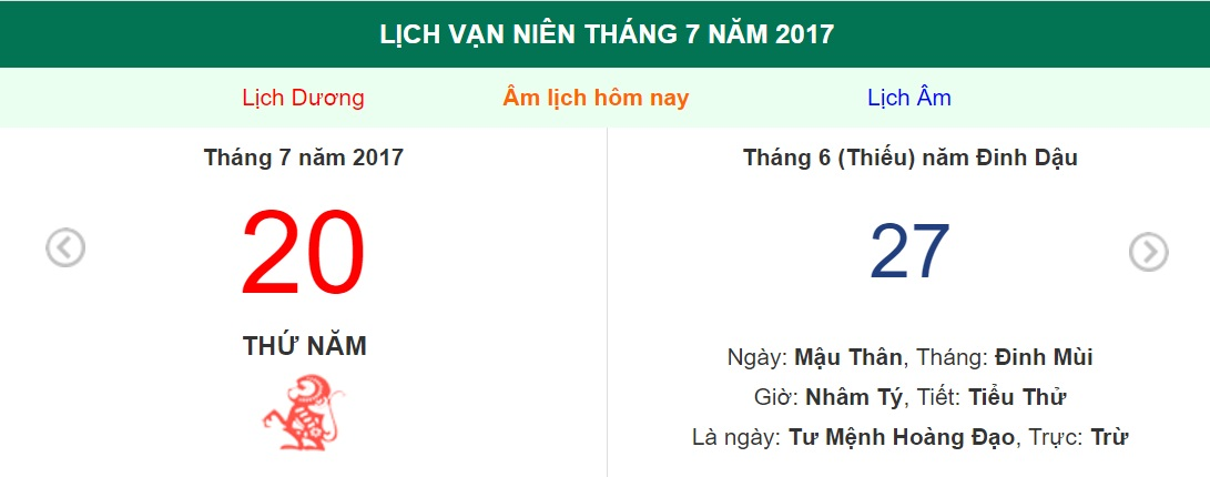 am lich hom nay (27.6, tuc 20.7 duong lich): co phai ngay tot khong? hinh anh 1