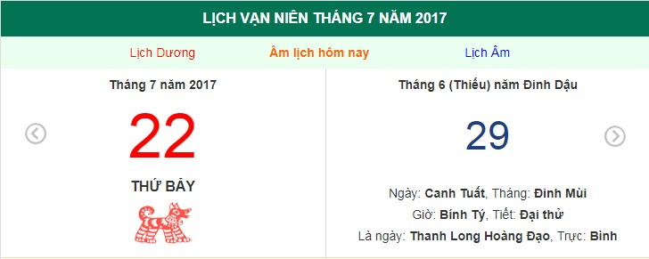 am lich hom nay (29.6, tuc 22.7 duong lich): nen xuat hang gio nao? hinh anh 1