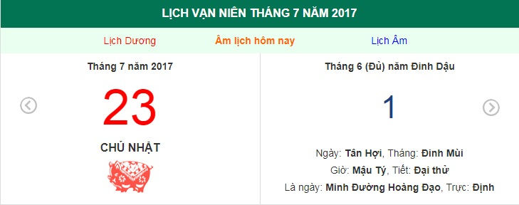 am lich hom nay (1.6, tuc 23.7 duong lich): huong xuat hanh tot nhat hinh anh 1