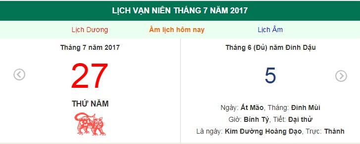 am lich hom nay (5.6, tuc 27.7 duong lich): gio xuat hanh dep nhat hinh anh 1