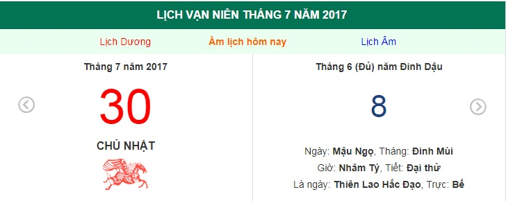 am lich hom nay (8.6, tuc 30.7 duong lich): nhung huong xuat hanh tot hinh anh 1