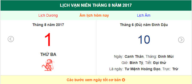 am lich hom nay (10.7, tuc 1.8 duong lich): nhung huong xuat hanh tot hinh anh 1
