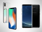 "So ke hai ""ke thu"" iPhone X va Samsung Galaxy S8"