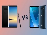 Man hinh POLED tren LG V30 va AMOLED cua Galaxy Note 8 khac nhau the nao?