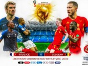 Lich thi dau va phat song ban ket World Cup 2018 hom nay: Phap dai chien Bi
