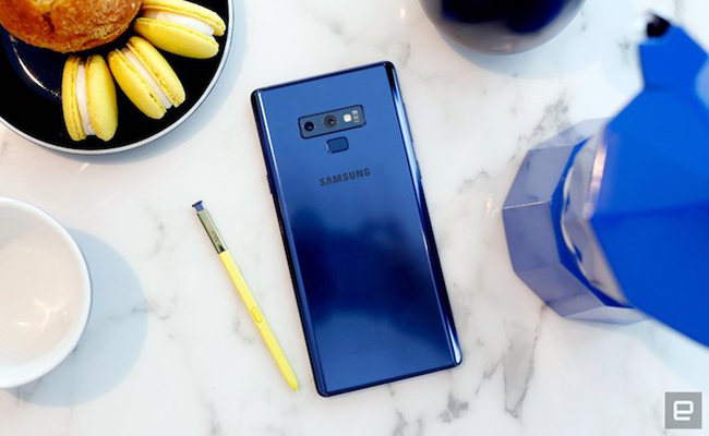 "anh thuc te samsung galaxy note9 voi but s pen ""than thanh"" hinh anh 1"