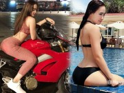 & quot;Hot girl mo-to khung Can Tho & quot; chi bai tap vong 3 dep, chan thon