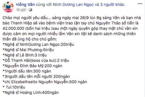 mai phuong ung ho dong nghiep bi ung thu, le binh chay show tro lai hinh anh 4