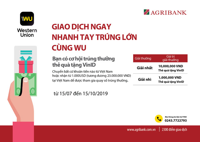 "cung agribank ""giao dich ngay – nhanh tay trung lon cung wu"" hinh anh 1"