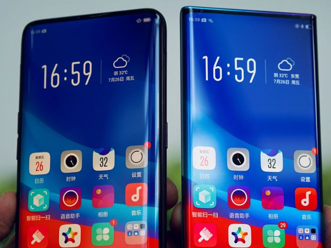 oppo pho dien smartphone man hinh thac nuoc dep mien che hinh anh 1