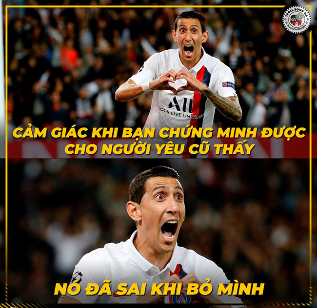 """anh che: di maria """"len dong"""" huy diet doi bong cu real madrid hinh anh 1"""