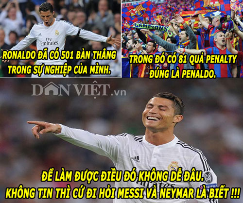"anh che: ronaldo cuoi nhao messi, ""thanh"" bendtner bi m.u ""nhuom do"" hinh anh 1"