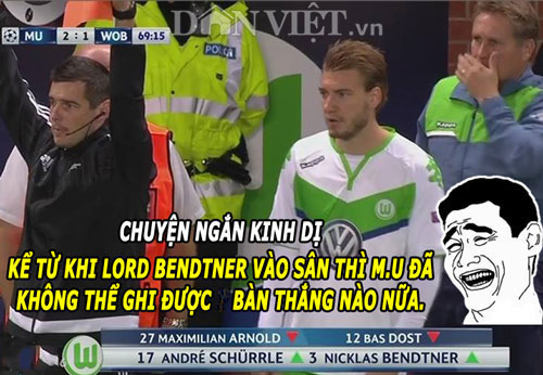 "anh che: ronaldo cuoi nhao messi, ""thanh"" bendtner bi m.u ""nhuom do"" hinh anh 4"