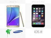 Cong nghe - So sanh chi tiet giua Galaxy Note 5 voi iPhone 6 Plus