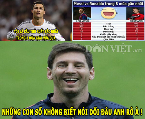 "anh che: messi cuoi nhao ronaldo, fan m.u ""dang"" depay cho real hinh anh 1"