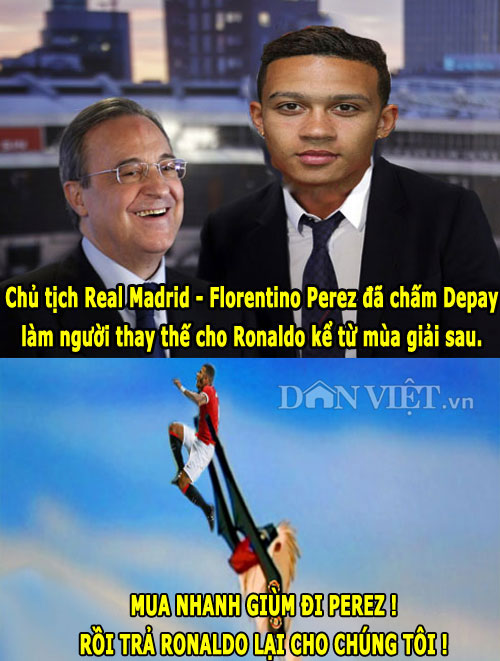 "anh che: messi cuoi nhao ronaldo, fan m.u ""dang"" depay cho real hinh anh 2"
