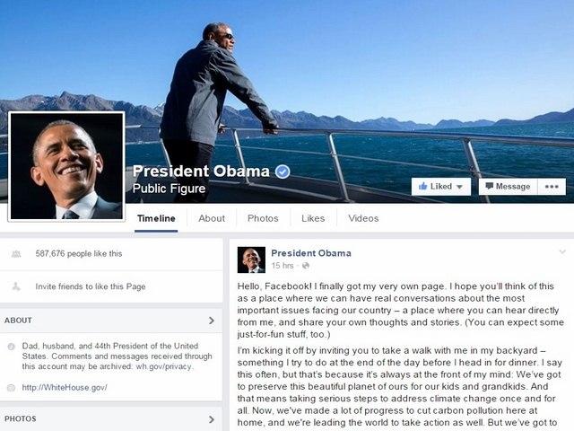 ong obama chinh thuc co facebook ca nhan hinh anh 1
