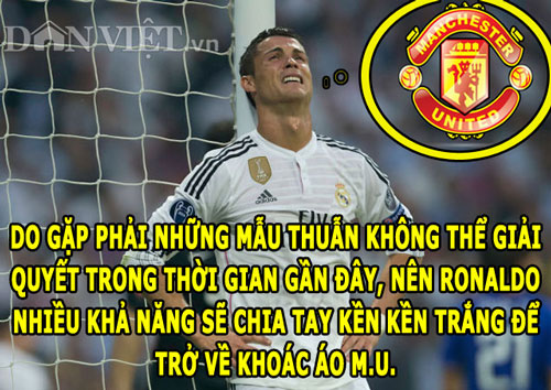 "anh che: ronaldo muon chia tay real, m.u dung tien ""du do"" neymar hinh anh 1"