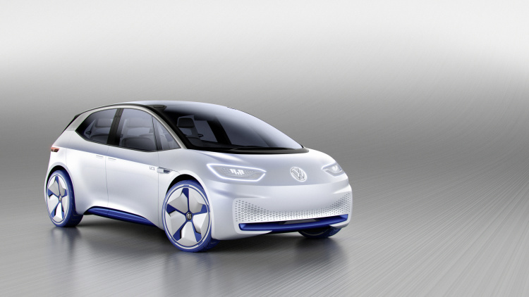 chi tiet ngoai hinh mau xe dien volkswagen i.d. concept moi hinh anh 1