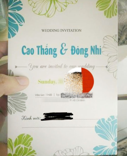 su that ve thiep cuoi cua dong nhi, ong cao thang hinh anh 1