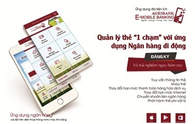 "quan ly the ""1 cham"" voi ung dung ngan hang di dong agribank e-mobile banking hinh anh 1"
