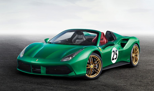 "ferrari 488 spider ""green jewel"" gia gan 30 ty dong hinh anh 1"
