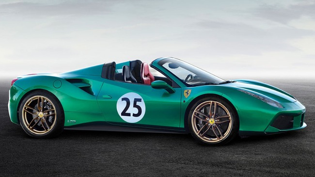 "ferrari 488 spider ""green jewel"" gia gan 30 ty dong hinh anh 3"