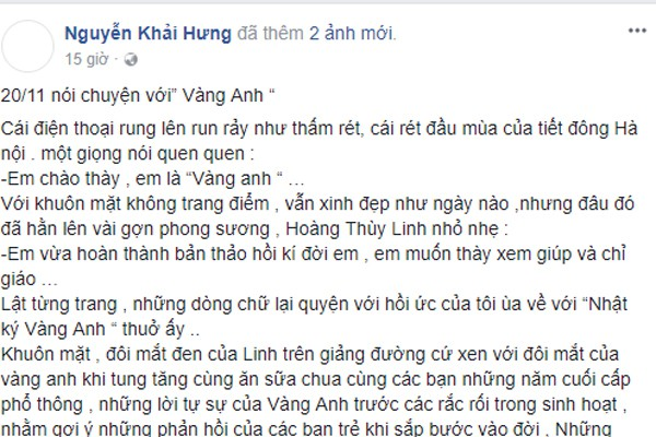 dao dien 'nhat ky vang anh' noi chuyen hoang thuy linh 10 nam truoc hinh anh 1
