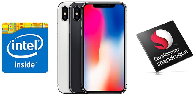 toc do lte tren iphone x dung chip qualcomm vuot troi so voi intel hinh anh 2