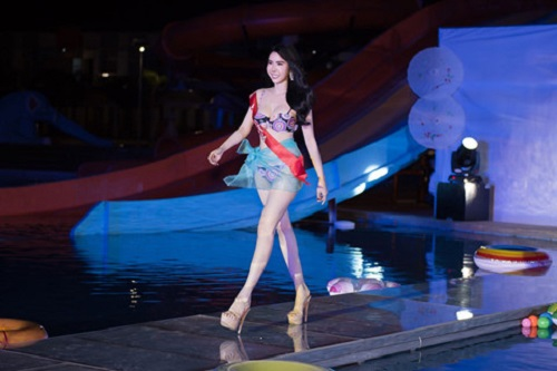 """huynh vy co hinh the dep nhat """"miss tourism queen worldwide"""" hinh anh 2"""