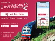dat ve tau hoa truc tuyen ngay tren ung dung Agribank E-Mobile Banking